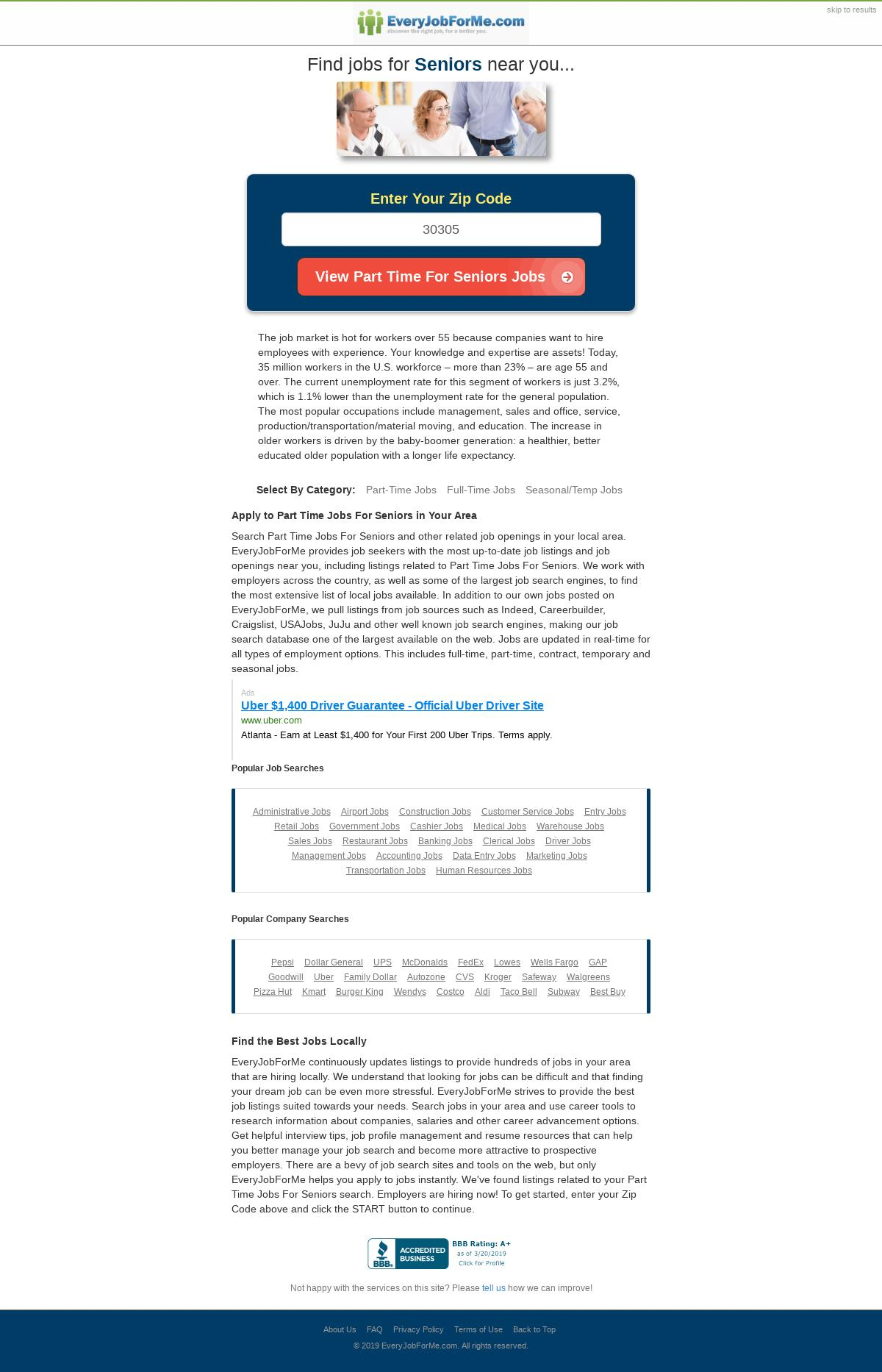 Everyjobforme Com Landing Page Design For Jobs Job Search