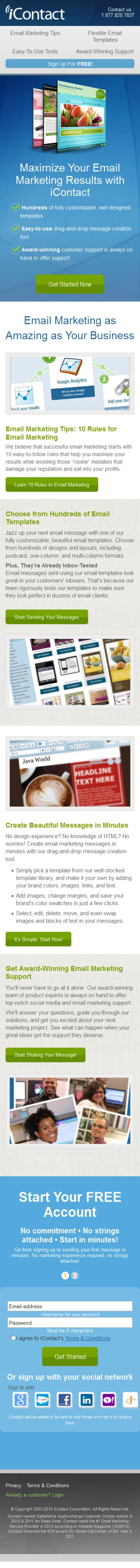 Best Landing Page Designs for Business services - Email Marketing ...