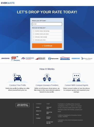 Best Landing Page Designs for Insurance - Car insurance ...